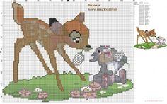 Bambi and Thumper cross stitch pattern