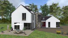 mod049 Barn House Design, House Outside Design, Bungalow Exterior, Dream House Exterior, Building Design, Building A House, Dormer House, House Designs Ireland, Cottage Extension