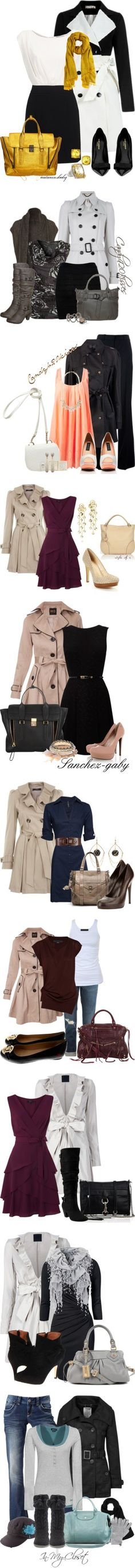 """Trench coats"" by aquamarine78 ❤ liked on Polyvore"
