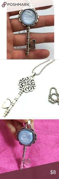 ⭐️ I love you to the moon and back Key necklace Key shaped pendant Jewelry Necklaces