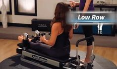 """Work your biceps and upper back with the """"Low Row"""" strength training exercise on the #Pilates Power Gym"""