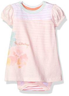 d515991cd0 Burts Bees Baby Girls Organic Short Sleeve Bodysuit Dress Dawn 03 Months      Visit