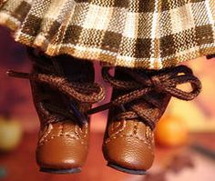 "Cute Brown Laceup ~BooTS FoR GiNNy~ Vintage,Repro,& Modern Dolls,fits Muffie, Ginger, and Madame Alexander 7.5-8"" dolls too! Brand new in saddle brown at my website www.karmelapples.com now and you can buy them now, no waiting. If you need boots for your dollies, nows the time to get them. Also available in cream,black, and dark brown. Click the picture to take you there."