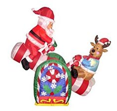 BZB Goods 4 Foot Animated Christmas Inflatable Santa Claus and Reindeer on Teeter Totter Outdoor Yard Decoration Animated Christmas Decorations, Inflatable Christmas Decorations, Reindeer Decorations, Holiday Decorations, Outdoor Decorations, Holiday Ornaments, Seasonal Decor, Holiday Inflatables, Xmas