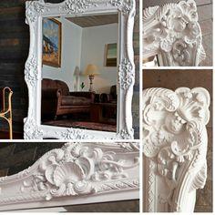Espejo lacado blanco Decor, Mirror, Home Decor, Furniture