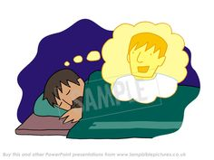 Joseph's dream. From the Bible story PowerPoint presentation 'Christmas story / Nativity'.