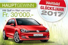 Win een gratis Auto! Een Volkswagen Golf Highline 🚘 via de Wedstrijd van Weltbild. 🚗 Deel het 😃👉