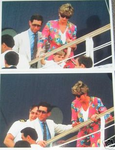Aug 1991 Dubbed by the press as a second honeymoon, the Princess, her husband and children cruised the med on the Alexander. The couple were joined the Spanish a Royals and the Romseys for the cruise.