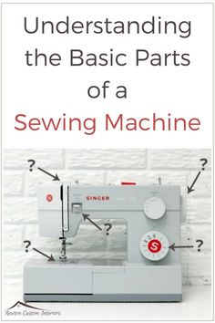 Learn what the basic parts of your sewing machine are in this free video tutorial.  #newtoncustominteriors #sewing #sewingmachine #sewingtutorial