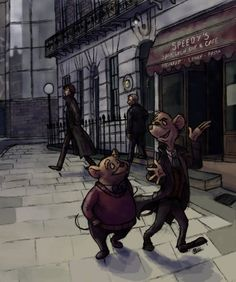 Watson and Holmes and The Great Mouse Detective :)
