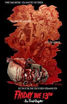Poster antigos do filme sexta feira 13. By www.ideafixa.com