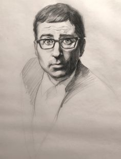 John Oliver sketch by Heather Lenefsky John Oliver, Guy Drawing, Sketch Art, Portrait Art, Sketching, Illustration Art, Entertainment, Drawings, Prints
