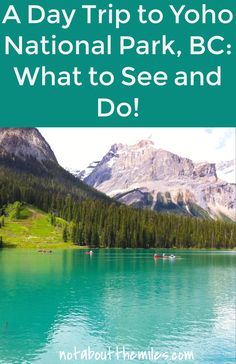 A day trip to Yoho NP is a must-do if you are visiting Lake Louise or Banff. Go boating on stunning Emerald Lake. View the Natural Bridge. See the awesome Takakkaw Falls. All these wonders and more await you at Yoho National Park in British Columbia, Cana Yoho National Park, National Parks, Jasper National Park, Canadian Travel, Canadian Rockies, Visit Canada, Canada Trip, Travel Guides, Travel Tips
