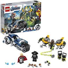 LEGO Marvel L'attaque du Speeder Bike des Avengers Set de jeu Figurines de Black Panther et de Thor 149 pièces 76142 Marvel Avengers, Black Panthers, Lego Sets, Game Of Thornes, Captain America, Figurine Lego, Construction Lego, Hulk Action Figure, Best Avenger