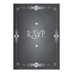 Shop Chalkboard Wedding RSVP Response Card created by kat_parrella. Chalkboard Wedding Invitations, Black And White Wedding Invitations, Couples Shower Invitations, Engagement Party Invitations, Beautiful Wedding Invitations, Wedding Rsvp, Wedding Invitation Design, Wedding Stationery, Custom Invitations