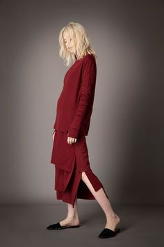 2021-22 A/W 014, Wool Rib + Wool Jersey Combination T-shirt FRC-T08-110, Wool Rib + Wool Jersey Combination Tunic FRC-T09-110, Wool Rib + Wool Jersey Combination Tunic Skirt FRC-S02-110F Normcore, Tunic, Skirts, T Shirt, Style, Fashion, Gowns, Supreme T Shirt, Moda