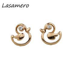 LASAMERO 0.032CT Round Cut Natural Diamond Cluster Earrings 18K Gold Diamond Halo Stud Earrings Fine Jewelry Earring Studs #Affiliate