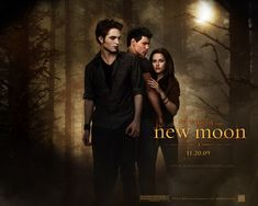 The Twilight Saga: New Moon - Wallpaper with Taylor Lautner, Robert Pattinson & Kristen Stewart. The image measures 1280 * 1024 pixels and was added on 2 August Twilight Saga New Moon, Film Twilight, Twilight Cast, Twilight Online, Aquaman, New Moon Movie, Fantasy Movies, Fantasy Romance, Movie Wallpapers