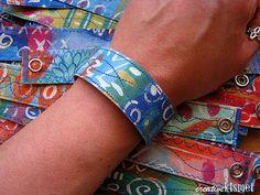 "painted canvas bracelets!  by Regina Ward of ""Creative Kismet"""