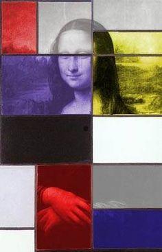 Variations abstraites en jaune, rouge, bleu - Mitsouko au CP