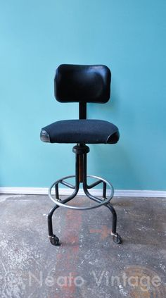 Black Industrial Task Chair By NeatoVintage On Etsy, $125.00