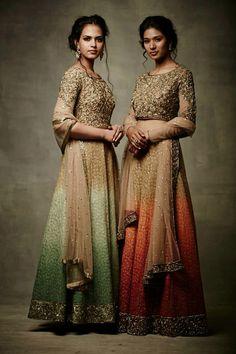 Tales of elegance! Perfect #ombre #bridesmaid #outfit #elegant #lehenga #ombrelehenga #varunbahl #vb #ethnicwear
