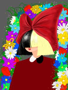 Sia illustration in procreate app. #sia #thisisacting