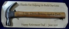 Retirement Gift For Dad ~ Personalized Retirement Gift ~ Retirement Plaque ~ Ceremonial Gift ~ Gift For Retirement ~ Retirement Gifts ~ Retirement Gift For Dad Personalized by SpringbrookEngraving Special Gifts For Him, Best Dad Gifts, Diy Gifts For Him, Christmas Gifts For Him, Grandpa Gifts, Gifts For Husband, Gifts For Kids, Thoughtful Gifts For Dad, Christmas Ideas