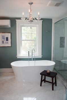 Sherwin Williams SW 7604 Smoky Blue Bathroom
