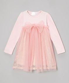 Pink Tulle Babydoll Dress - Toddler & Girls #zulily #zulilyfinds