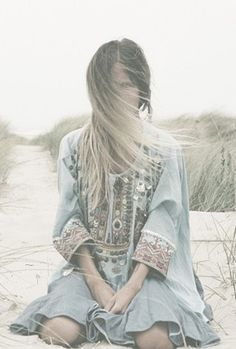 Boho beach chic, modern hippie fashion trend