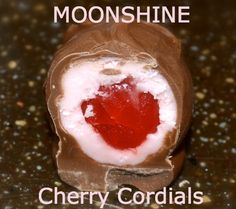 Chocolate covered Moonshine cherries and vanilla cream! Makes a great gift!