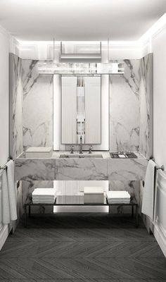 Baccarat Hotel NY - loving the unusual tiling in this luxury hotel bathroom Design Hotel, House Design, Living Room Designs, Living Room Decor, Luxury Master Bathrooms, Master Baths, Luxury Hotel Bathroom, Hotel Bathroom Design, Hotel Bathrooms