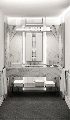 M :: Baccarat Hotel NY | Tempo da Delicadeza Find More Accessories & Decorative Ideas for Your Bathroom at Centophobe.com #bathroom #Decorating Ideas