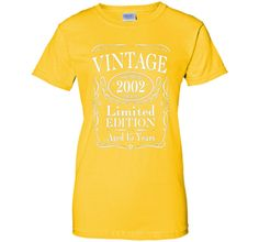 Vintage 2002 Limited Edition 15th Birthday Gift T-Shirt