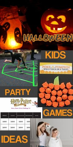 various kids Halloween party games ideas for Halloween party at home or at school.
