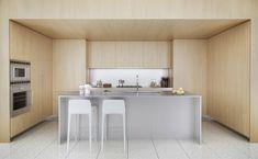 Cucina bianca e legno 01