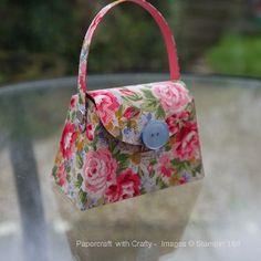 Stampin Up  https://www.youtube.com/watch?v=rmXC8XaO-KA&feature=youtu.be Fabric covered Petite Purse