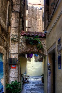 An Alleyway in Old Split, Croatia