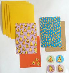 Image of Pizza Party Stationery Set