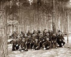Above we show a remarkable photo of Petersburg, Virginia Group of Company G, 114th Pennsylvania Infantry (Zouaves). It was made in 1864.  The illustration documents Photograph from the main eastern theater of war, the siege of Petersburg, June 1864-April 1865.