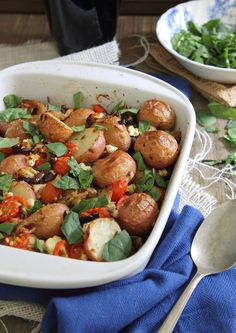 This Greek Potato Casserole recipe is courtesy of Running to the Kitchen.