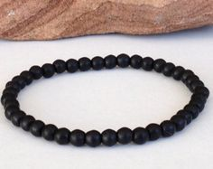 Free Shipping Men S Stone Bracelet Simple Onyx Small