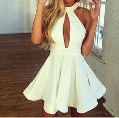 Vestido godê branco