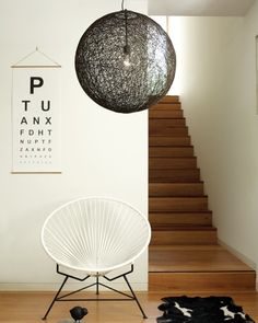 Beacon Lighting - Habitat 1 light 500mm sphere pendant in dark brown weave with black suspension and ceiling canopy