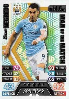 Match Attax 2013/2014 Alvaro Negredo Manchester City 13/14 Man Of The Match #middlesboro