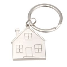 Have your logo, name or message laser engraved on this sweet home key chain!