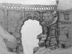 ArtStation - Random Sketches I, Friedemann Allmenroeder: Animation Background, Art Background, Cartoon Background, Environment Concept Art, Environment Design, Landscape Illustration, Illustration Art, Modelos 3d, 2d Art