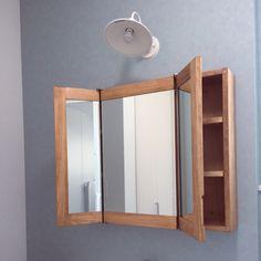 natural-liquorさんの、新築,ミラーキャビネット,ミラー,無垢の木,バス/トイレ,のお部屋写真