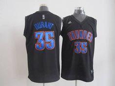 cf4163231 Thunder  35 Kevin Durant Black Fashion Stitched NBA Jersey